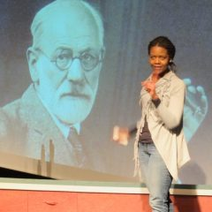 Bonita Jackson discusses Freud in 'The Official Adventures of Kieron & Jade' in Catskill, NY